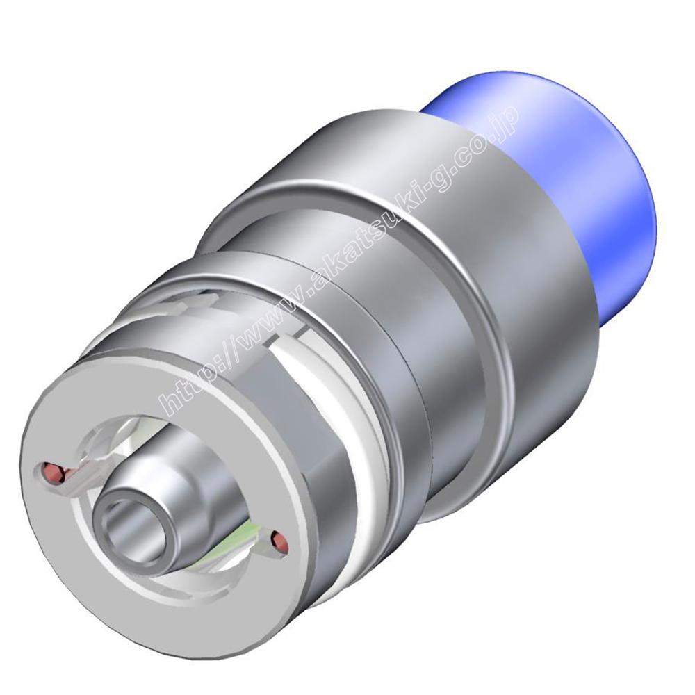 ヘリウムリーク(漏れ)検査用 ワンタッチカプラー  CHシリーズ(コレットタイプ)